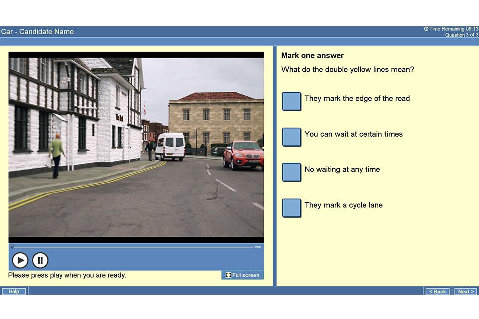 Theory Test Screenshot