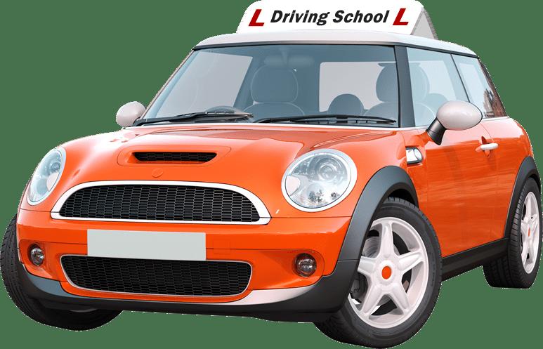 Orange Driving Instructor Car