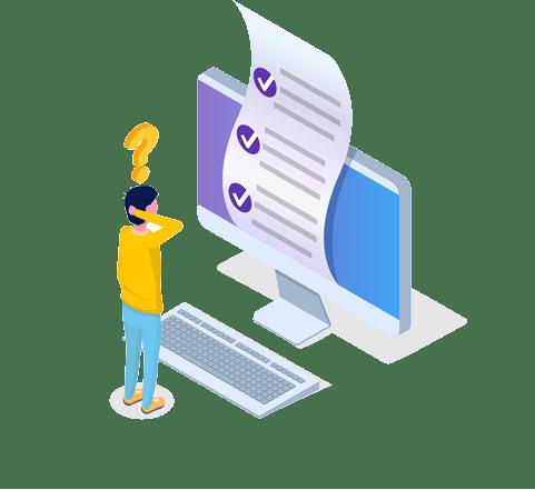 Checklist on a Computer Screen